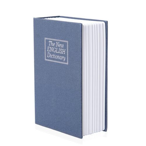 Blue Colour Small Dictionary Diversion Secret, Hidden Book Safe with Key Lock (Size 18x11.5x5.5 Cm)
