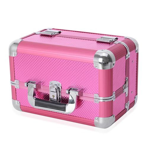 4 Tier Extendable Cosmetic Organizer (Size 29x19x19 Cm) - Pink