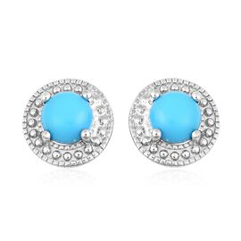 SLEEPING BEAUTY TURQUOISE (1.00 Ct) Sterling Silver Earring  1.000  Ct.