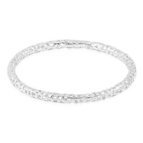 RACHEL GALLEY Allegro Bangle in Rhodium Plated Silver 8.5 Inch