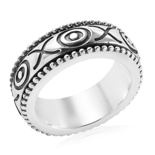 Royal Bali Collection Sterling Silver Band Ring, Silver wt 12.00 Gms.