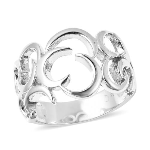 RACHEL GALLEY Snowdrop Collection - Rhodium Overlay Sterling Silver Ring