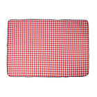 Small Checker Pattern Picnic Blanket (Size 198x146cm) in Red & White