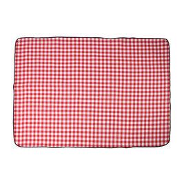 TJC Small Checker Pattern Picnic Blanket (Size 150x200Cm) - Red & White