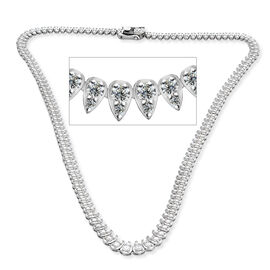 RHAPSODY 950 Platinum IGI Certified Diamond (Rnd) (VS/E-F) Necklace (Size 16.5) 5.00 Ct, Platinum wt