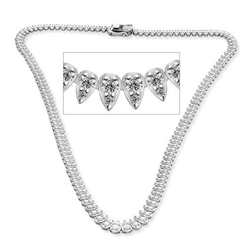 RHAPSODY 950 Platinum IGI Certified Diamond (Rnd) (VS/E-F) Necklace (Size 16.5) 5.00 Ct, Platinum wt