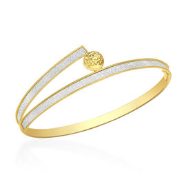 Hatton Garden Close Out 9K Yellow Gold Stardust Bangle (Size 7.5), Gold Wt 4.20 Gms