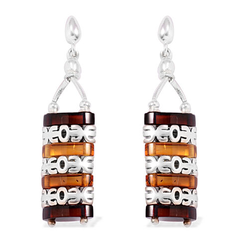 Tucson Collection Baltic Amber Earrings (with Push Back) in Sterling Silver 16.000 Ct.