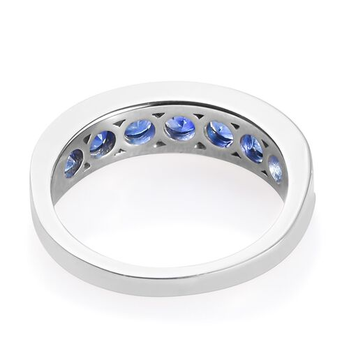 RHAPSODY 950 Platinum AAAA Ceylon Blue Sapphire Half Eternity Band Ring 2.00 Ct, Platinum wt 5.500 Gms
