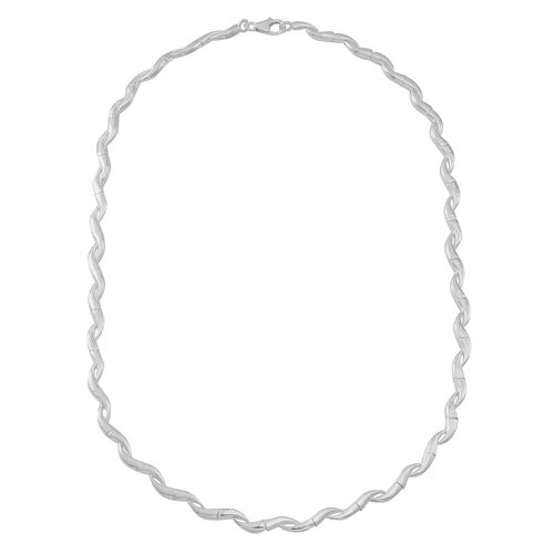 Statement Collection Sterling Silver S Link Necklace (Size 18), Silver wt 19.08 Gms.