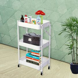 Multi Purpose Storage Shelf With Wheels (Size 45x29x77 cm) - Option1
