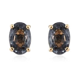 ILIANA Platinum Spinel (1.10 Ct) 18K Y Gold Earring  1.100  Ct.