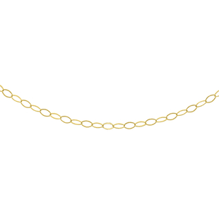 Biggest 2021 Gold Deal- 9K Yellow Gold Oval Link Chain (Size 18)