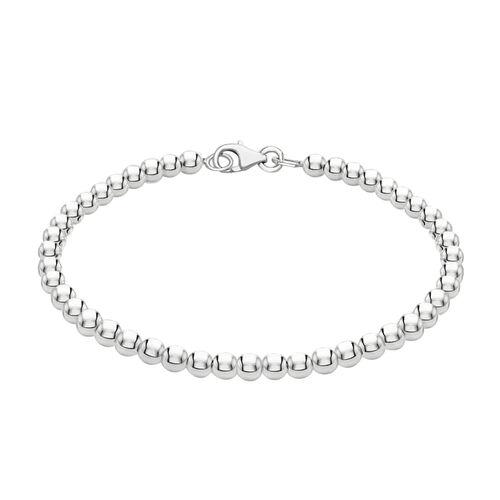 Sterling Silver Ball Bracelet, (Size 7.5), Silver Wt. 5.10 Gms