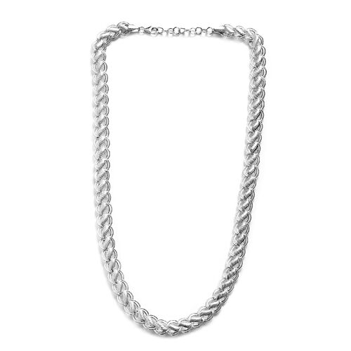 Link Chain Necklace in Sterling Silver 38.42 Grams 20 with 1.5 Inch Extender