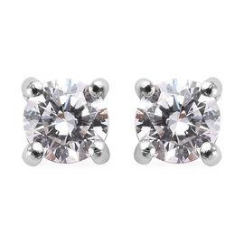 RHAPSODY 950 Platinum SGL Certified Diamond (Rnd) (VS/E-F) Stud Earrings (with Screw Back) 0.25 Ct.