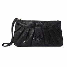 ASSOTS LONDON Darcy Genuine Pebble Grain Leather Hobo Shoulder Bag - Black
