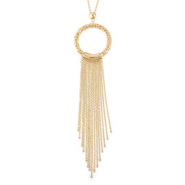 RACHEL GALLEY Yellow Gold Overlay Sterling Silver Allegro Tassel Pendant with Chain (Size 30), Silve