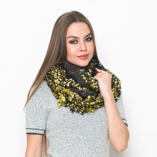 Black, Green and Yellow Colour Scarf (Free Size)