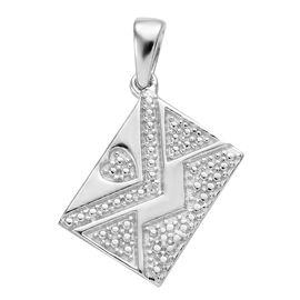 Diamond (Rnd) Pendant in Platinum Overlay Sterling Silver