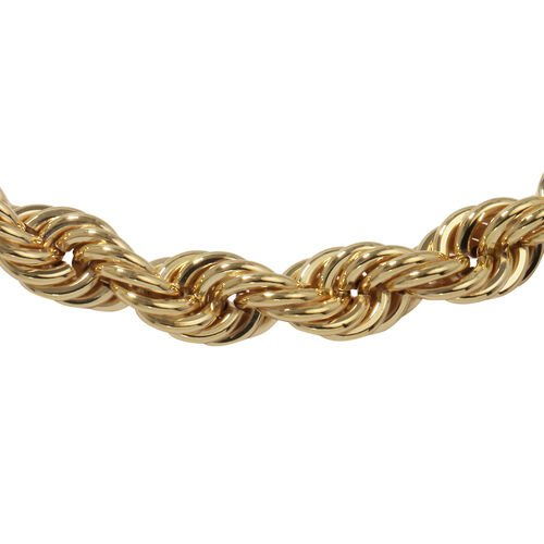 Vicenza Collection- Italian Made - 9K Yellow Gold Rope Bracelet (Size 8), Gold wt 14.44 Gms