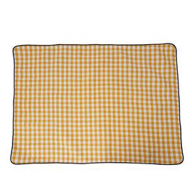 TJC Checker Pattern Picnic Blanket (Size 150x200Cm) - Yellow and White