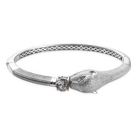 J Francis - Crystal from Swarovski White Crystal (Rnd) Panther Bangle (Size 7.5)