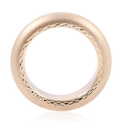Premium Collection-Royal Bali 9K Yellow Gold Matte Finish Band Ring Gold Wt 2.50 Grams
