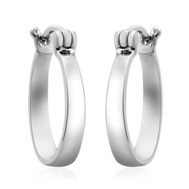 RHAPSODY 950 Platinum Hoop Earrings with French Clip, Platinum wt. 5.94 Gms