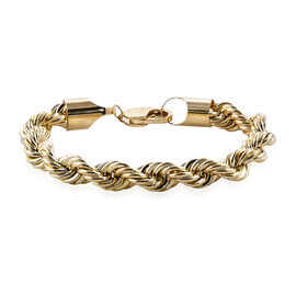 Close Out Deal 8 Inch Rope Bracelet in 9K Gold 17.99 Grams