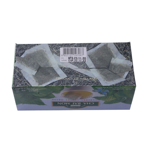CHA BAI MON - Ground Mulberry Leaves Tea in Sachets (50 Sachets)