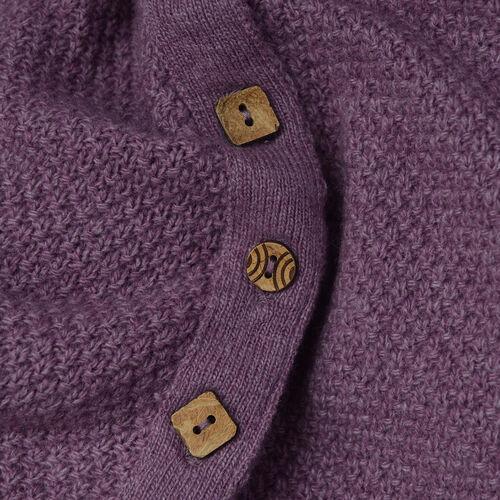 Wool Purple Colour Poncho (Size-16, 55x113.5cm)