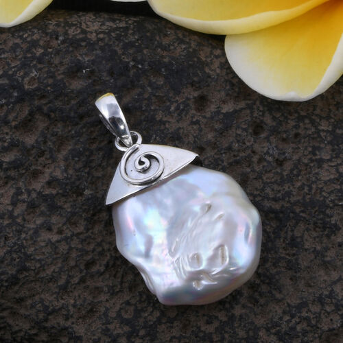 (Option 2) Royal Bali Collection Fresh Water Pearl Pendant in Sterling Silver