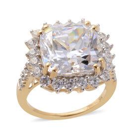 J Francis Made with SWAROVSKI ZIRCONIA Halo Ring in 9K Gold 4.10 Grams