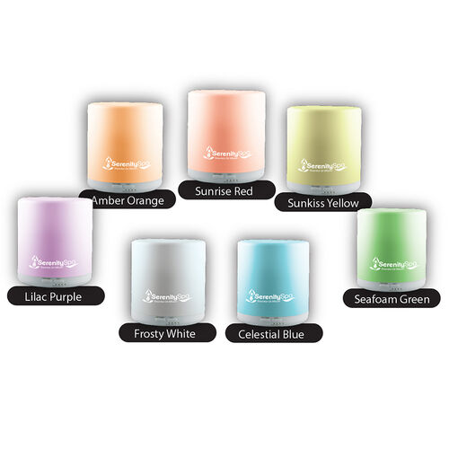 SERENITY Ultrasonic Aroma Diffuser with 7 Light Functions and Power Adaptor Included