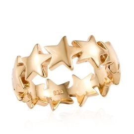 14K Gold Overlay Sterling Silver Star Ring