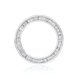 9K W Gold SGL Certified Diamond (Bgt) (I3/ G-H) Circle Pendant 1.000 Ct.