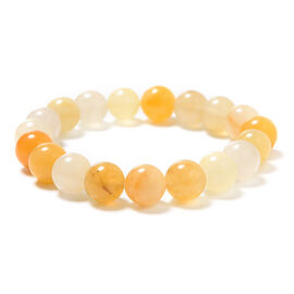 Yellow Quartzite Beaded Stretchable Bracelet (Size 6.5) 152.50  Ct.