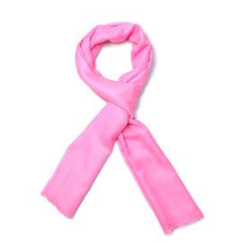 100% Cashmere Wool Pink Colour Scarf (Size 200x70 Cm)