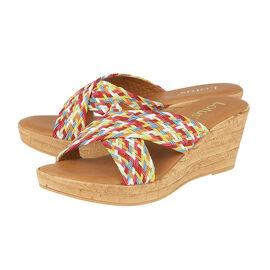 Lotus Jacinta Mule Wedge Sandals in Rainbow Colours