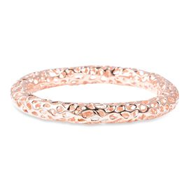 RACHEL GALLEY Rose Gold Overlay Sterling Silver Allegro Bangle (Size 7.5), Silver wt 30.51 Gms
