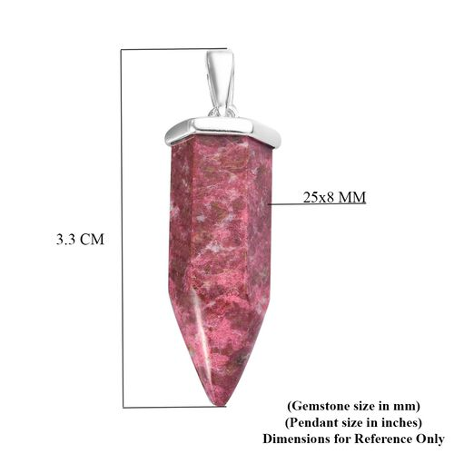 Thulite Pendant in Sterling Silver 15.50 Ct.