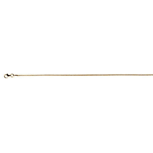 Italian Made-14K Gold Overlay Sterling Silver Snake Chain (Size 20), Silver wt 4.28 Gms.