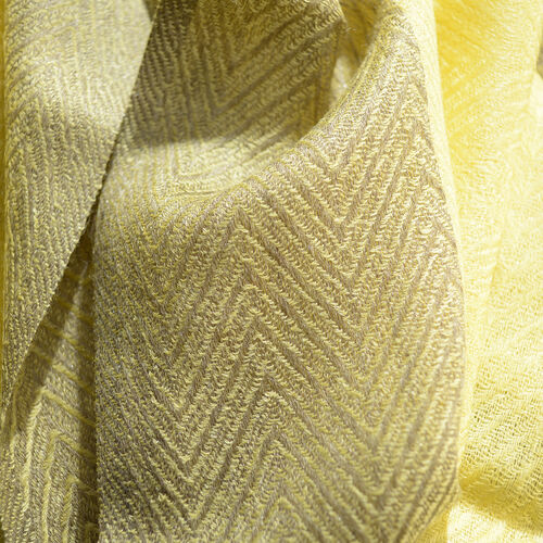 100% Cashmere Wool Yellow Colour Ultra Soft Scarf (Size 200X70 Cm)