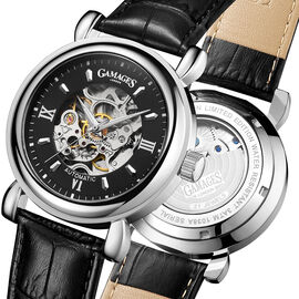 Gamages - Skeleton Automatic Steel Watch