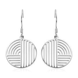Platinum Overlay Sterling Silver Hook Earrings