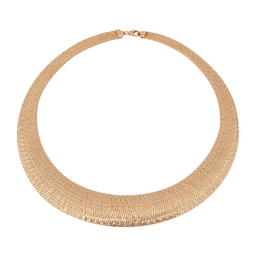 Made in Italy - 9K Yellow Gold Domed Omega Necklace (Size 18),  Gold wt. 10.90 Gms