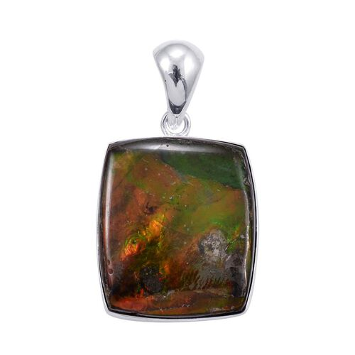 Jewels of India Ammolite Pendant in Sterling Silver 34.250 Ct.