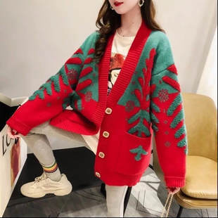 Kris Ana Wool & Cashmere Mix  Cardigan One Size (8-16)  - Red