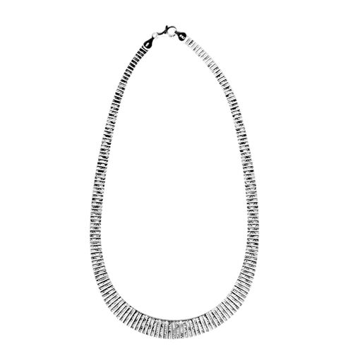 JCK Vegas Collection Sterling Silver Necklace (Size 17), Silver wt 33.55 Gms.